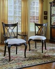 Hooker Furniture Preston Ridge Double X Back Arm Chairs (8 Total) 864-75-400