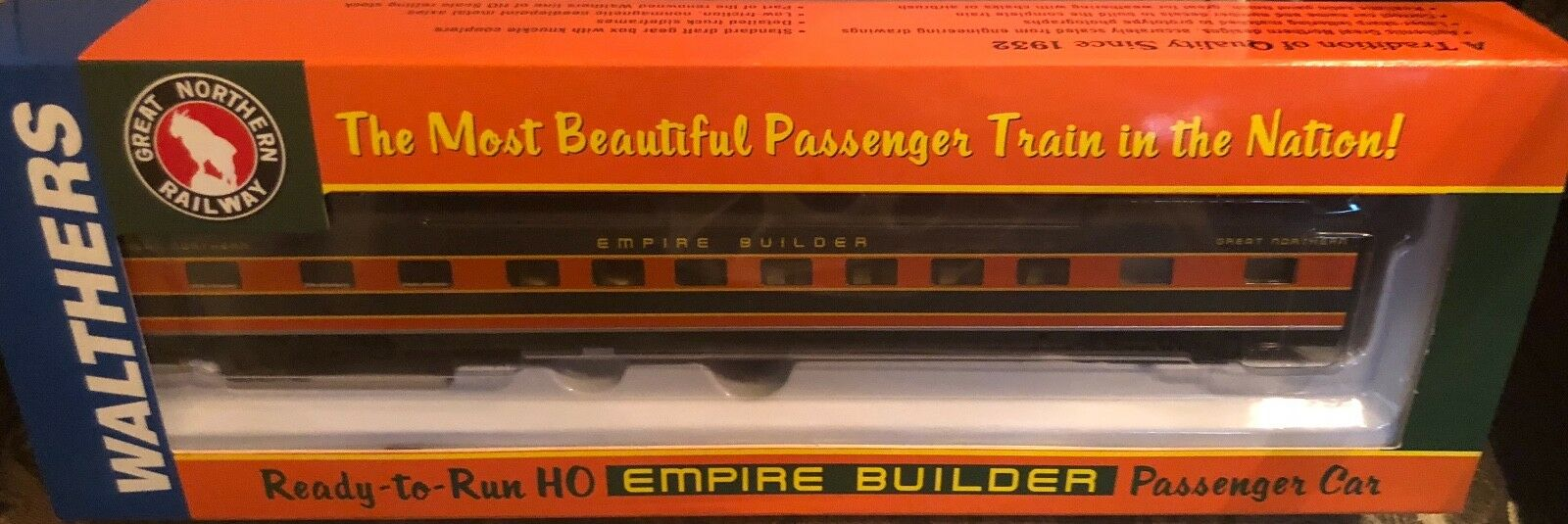 Walthers 932-9034 HO Scale GN Empire Builder AC&F Ranch Lounge Car