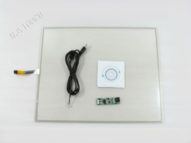 """19 Inch 4Wire Resistive Touch Screen Panel 396x323mm USB Kit DIY 19"""" LCD Monitor"""