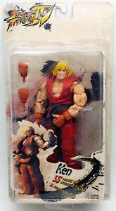 "NECA Player Select Street Fighter IV Ken Articulating Action Figure 7"""