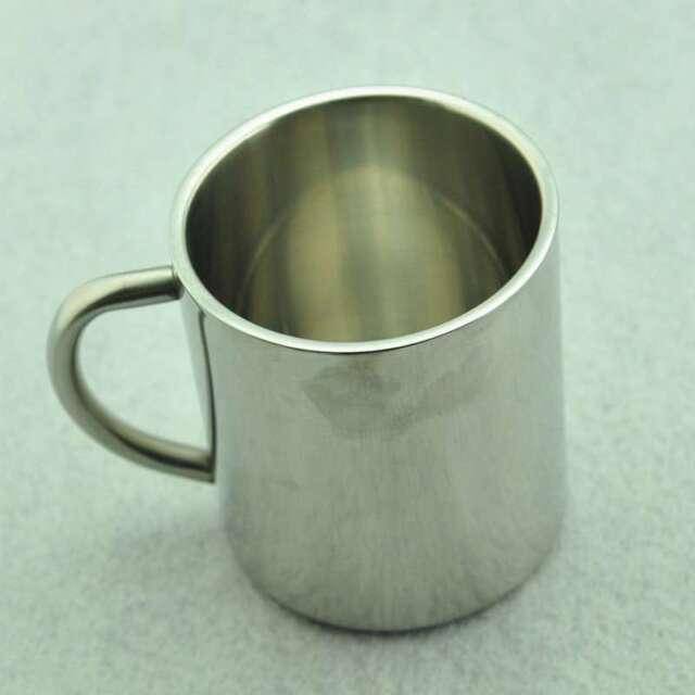 Stainless Steel 300ml Tumbler Camping Mug Double-deck Bilayer Cup Coffee Mug