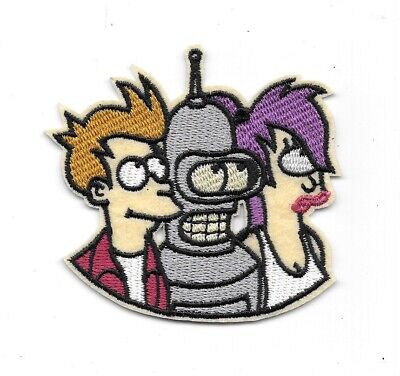Futurama TV Series Fry Bender Leela Trio Images Metal Enamel Pin NEW UNUSED
