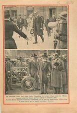 Albert Ier  de Belgique & Paul Doumer Palais de L'Elysée Garde Républicaine 1931