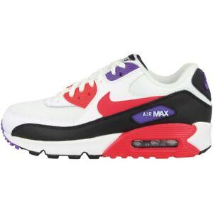 Detalles de Nike Air Max 90 Essential Zapatos Deporte Ocio Zapatillas Blanco Rojo AJ1285 106