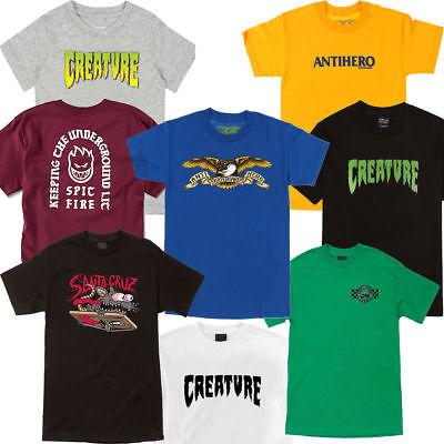 f2bd6d8892 CREATURE / SANTA CRUZ / SPITFIRE - Assorted Youth / Child Skateboard Tee  Shirts | eBay