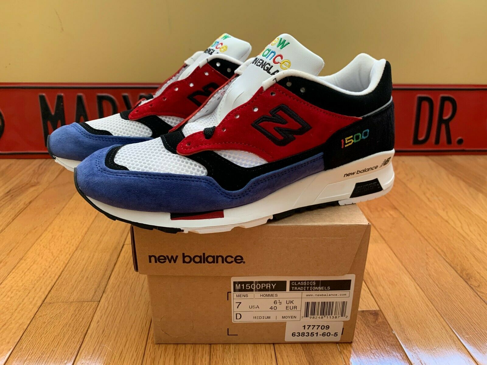 New Balance M1500PRY color Prism Made In In In England US Mens Size 7 UK 861ba7