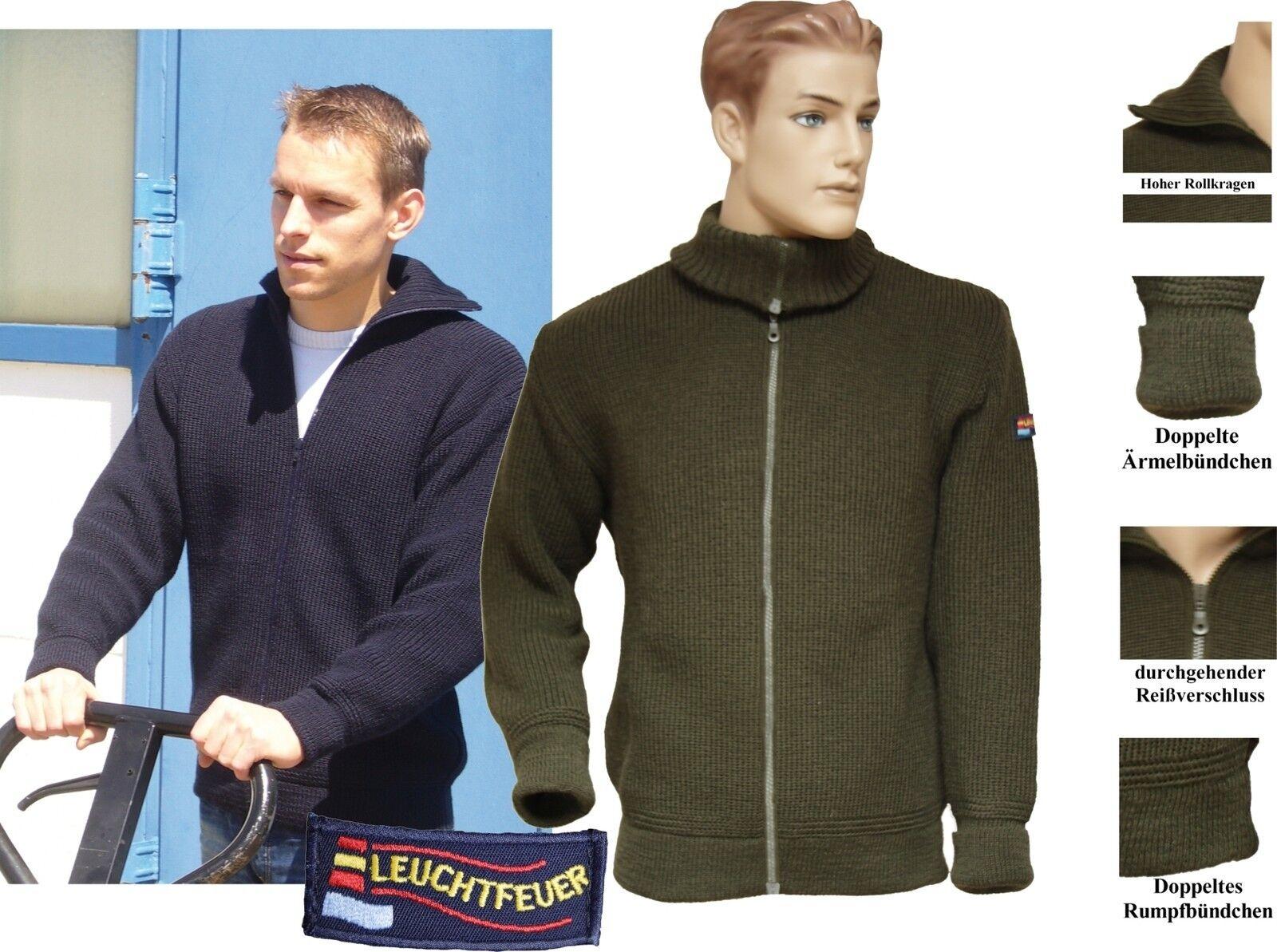 Warmer Troyer-chaqueta almirante 100% lana virgen  schurwolljacke Marine-verde oliva  Con precio barato para obtener la mejor marca.