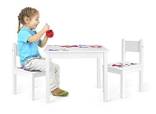 Yeti  Table et 2 chaises enfant motif PAPILLONS Leomark- 102 244159M