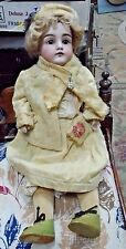 Antique German Kestner Dolly Face Doll with Original Clothing Hat Shoes