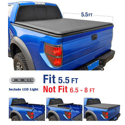 Truck Bed Accessories 2004 2018 Ford F 150 5 5ft Bed Excl Raptor Vinyl Smooth Roll Up Tonneau Cover Auto Parts And Vehicles