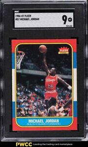 1986 Fleer Basketball Michael Jordan ROOKIE RC #57 SGC 9 MINT