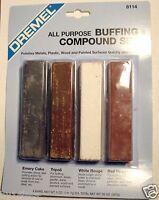 Metal & Plastic Buffing And Polishing Compound Set (4) 5oz Bars