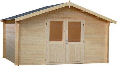 34mm Gartenhaus LEIPZIG Gerätehaus Schuppen Holz Holzhaus Gartenhäuser Blockhaus