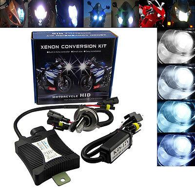 55W Motorcycle Bike HID H4 H/L Hi/Low Beam Bi-xenon Conversion Kit ballast 6000K