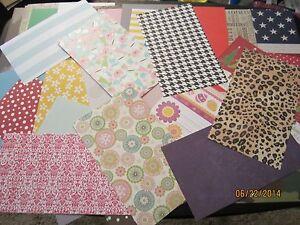 HUGE LOT* 200 Asst. * 8.5 X 5 * LARGE Paper Pieces * Card Making & Paper Crafts