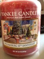 Yankee Candle Usa Williamsburg 10th Anniversary Sparkling Cinnamon