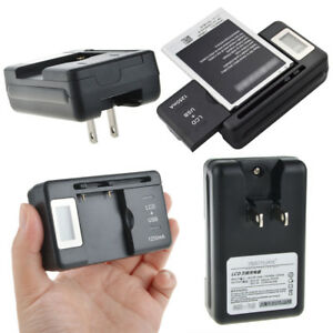 For Cell Phones LCD Indicator Screen Universal Mobile Battery Charger USB-Port