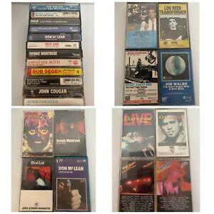 Rock-Cassette-Tape-Lot-Bob-Seger-David-Lee-Roth-Meatloaf-Joe-Walsh-Huey-Lewis