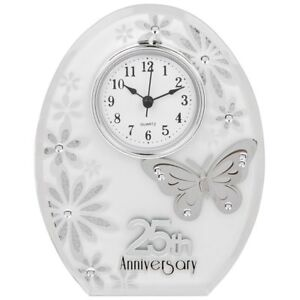 Image Is Loading 25th Wedding Anniversary Clock 25 Years Of Marrage