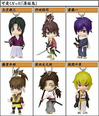 Takara Hakuoki Shinsengumi Kitan Deformed Mini Figure Key chain Swing Set of 6