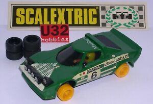 Dynamique Scalextric Exin C-4055 Lancia Stratos Hf #6 Green 1º Serie Excelente Condicion Performance Fiable