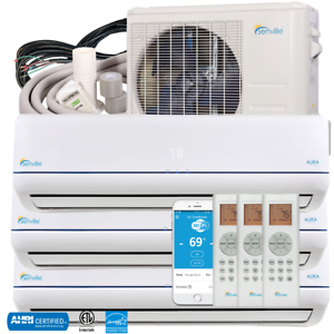 28000BTU-Tri-Zone-Ductless-Mini-Split-Air-Conditioner-2x9000BTU-1x12000BTU