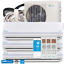 28000BTU-Tri-Zone-Ductless-Mini-Split-Air-Conditioner-2x9000BTU-1x12000BTU thumbnail 1