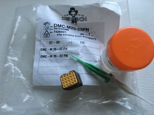 CONNECTOR WITH CONTACTS DMC-M20-22 PM MIL-SPEC