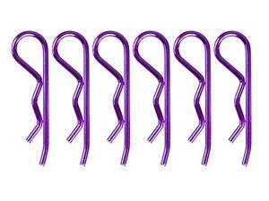 Arrowmax-Carroceria-Clipse-Pasadores-6-para-1-8-IN-Metalico-Violeta-Purpura