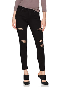 db4577614084 $168 Joes Jeans The Icon Ankle Dannel Black Ripped Flawless Skinny ...