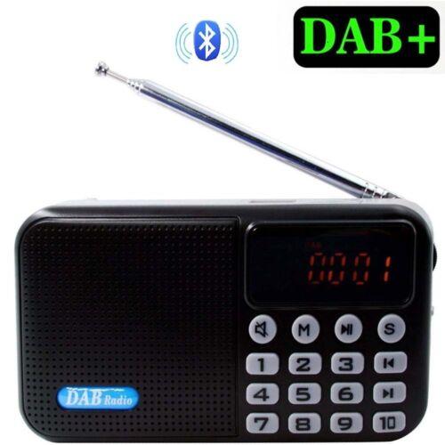 Digital Portable DAB/DAB+/FM MP3 Radio Bluetooth 4.0 Rechargeable LCD Display