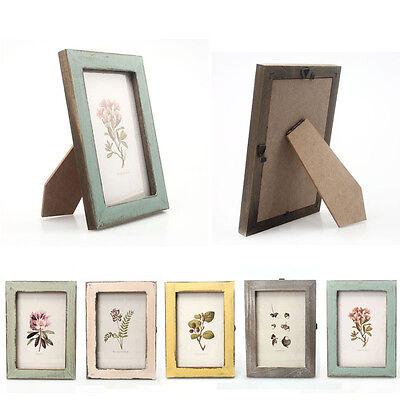 Vintage Photo Frame Home Bedroom Office Desk Ornament Wooden Phone Frame Gifts