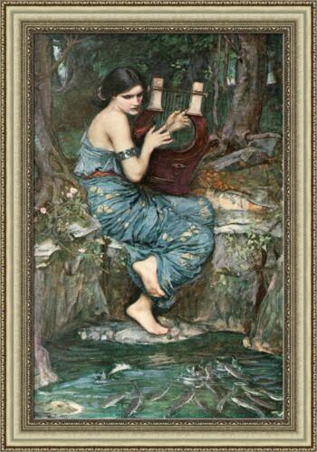 "V04-21 John William Waterhouse The Charmer Framed Canvas Giclee Print 27/""x39/"""