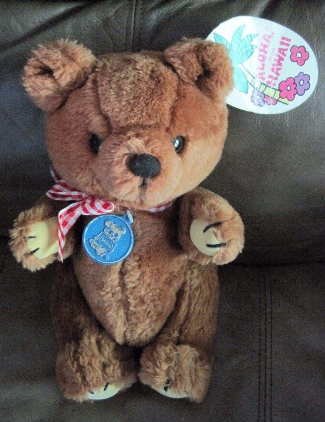 Vintage 12  Hawaiian Theodore Bear Plush Toy 1981 Stuffed Animal Keiki Toy Dakin