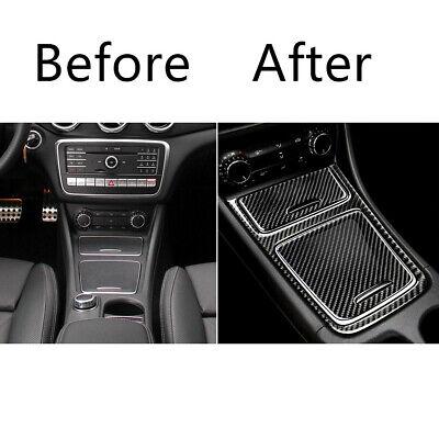1PC Carbon Fiber Car Central Control Panel Protector For Mercedes GLA CLA 13-18