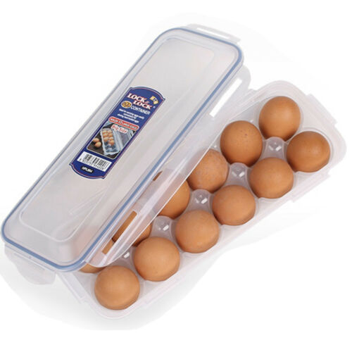 Lock /& Lock 12 Eggs Box Refrigerator Egg Storage Boxes Food Containers Holder