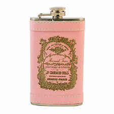 6oz PINK Mermaid Tears Leather Flask L1