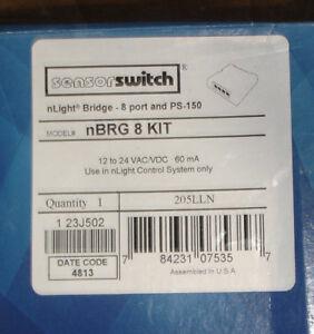 NEW-Sensorswitch-nLight-nBRG-8-Kit-8-port-amp-PS-150-12-24VAC-DC-Volt-Ships-Today