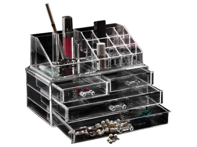 Choice of 6 Clear Acrylic Cosmetic Organizer Makeup Jewellery Nail Varnish Rack