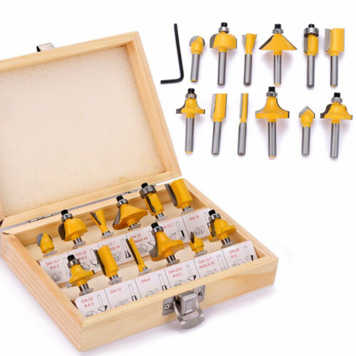 12pcs Milling Cutter Router Bit Set Wood Cutters Tool For Engraving G1U5