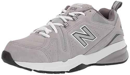 Comodidad informales para hombres de 608v5 Balance calzado para correr, ante gris, nos 8.5 2E