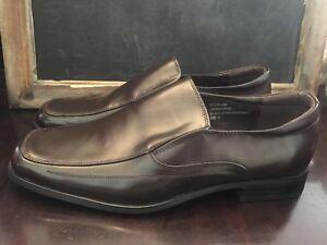 Men/'s Dress Shoes Slip On Loafers Square Toe Black Leather GIORGIO VENTURI 4942