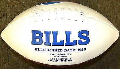 Buffalo Bills White Panel Rawlings Jarden Sports Fotoball NFL Team Football