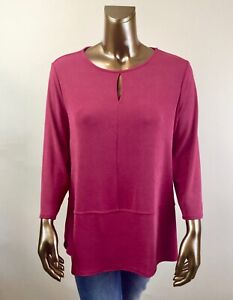 CHICO-039-S-TRAVELER-NEW-00-XS-INDIA-PINK-KEYHOLD-DETAIL-TUNIC-96
