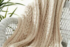 KNITTING PATTERN - THREE BRAIDED CABLE KNIT AFGHAN/BLANKET/THROW APPROX 43