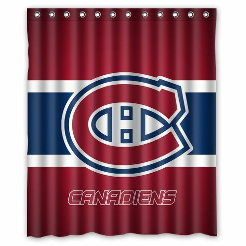 """Personalized Montreal Canadiens Hockey Waterproof  60/"""" x 72/"""" Shower Curtain Bath"""