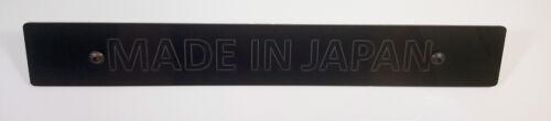 SR Black Front License Plate Delete w// Custom MADE IN JAPAN Laser Engraved