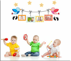 Cornici Per Bambini.Dettagli Su Adesivi Murali Cornici Portafoto Camerette Bambini Wall Stickers Parete Ws1248