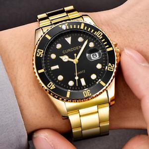 Men-Fashion-Military-Stainless-Steel-Watch-Date-Sport-Quartz-Analog-Wrist-Watch