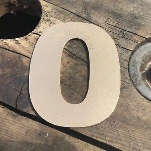 """0 5"""" Rustique En Métal Doré Numéro Lettre Maison Signe Lettrage Mot Boho Intérieur-afficher Le Titre D'origine"""